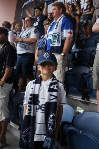 My mom and I went to an away game with Vancouver Whitecaps playing against the Seattle Sounders in Seattle.