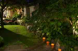 Tealights have always been a favourite of mine and they were the perfect addition for our outdoor living room.