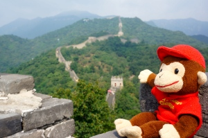 Curious George loved it here. He didn't have to climb the stairs!  Lucky monkey.