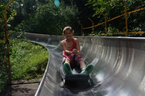 The chute was super fun.  I wish it was a longer ride.