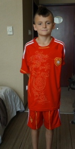 This is my new Chinese National Football team jersey and shorts.
