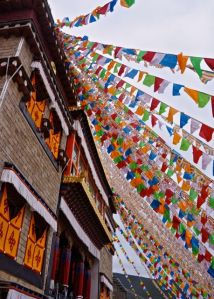 There were many prayer flags decorating the different temples and buildings.