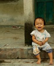 Her grand-baby was just a little giggling delight.