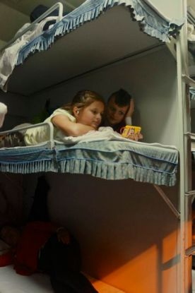 Hanging out on the hard sleeper bunk