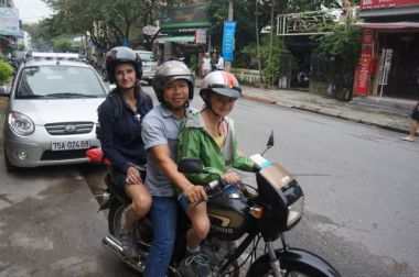 We needed a guide. Our international drivers licenses are not recognized in Vietnam.