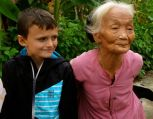 We met a lovely family. This was the 90 year old grandma who was rightfully proud of her age.