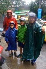 You can't get much wetter than this.  It took several days to dry our shoes and clothes.