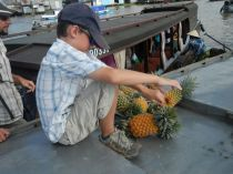 I got to pick my own pineapple.