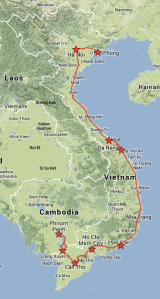 Vietnam Map - World Trip
