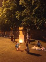 Lighting a lantern
