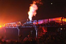 An authentic Japanese steam train