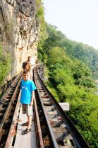 Walking on the trestle