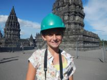 A hard hat to protect from falling stones