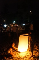 Setting of a lantern for New Year's