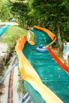 The outdoor tube ride