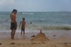 ...making sand castles
