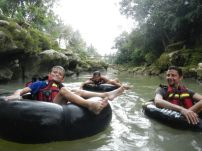 Us tubing in the river