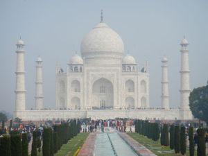 First view of the Taj Mahal