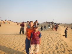 Jacob and I on the dune