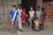 Me and the tribal village kids