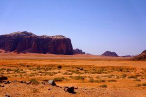 The desert scenery