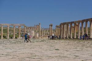 The main Jerash Piazza