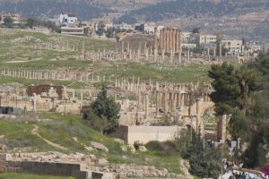 Distant view of Jerash