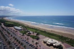 The view of our beach from the hotel