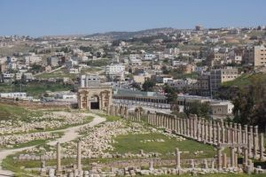 The main drag in Jerash