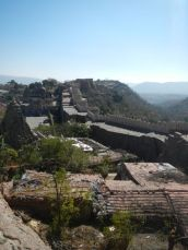 The mountain fort we visited before Jodhpur