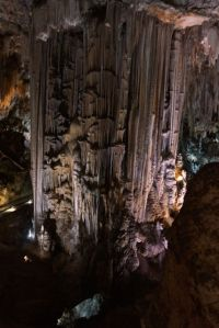 Big column in the caves near Nerja. Biggest column of it's type in the world.