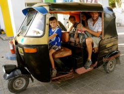 Tuk tuk ride from the station