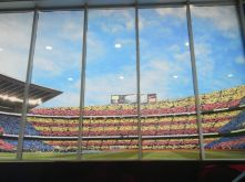 Camp Nou when the game it playing