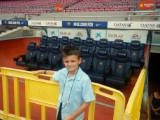 Barca me and dugout