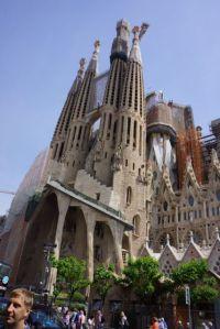 Sagrada Familia from the outside.