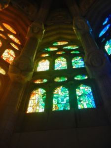 Stained glass windows at the Cathedral.
