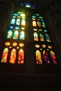 Some stained glass windows.