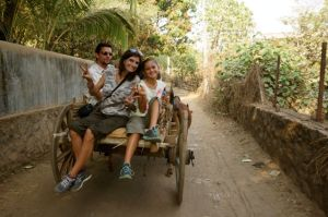 An ox cart ride... of course