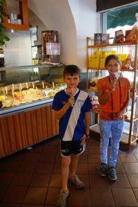 Yummy gelato in Pisa.