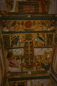 The inside of egyptian tomb.