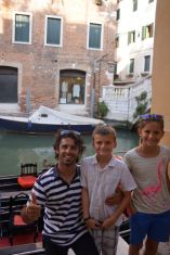 us and our gondola tour guide